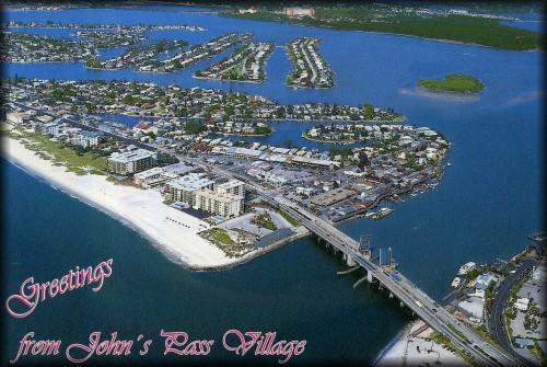 Postcard of John's Pass and Madeira Beach St. Petersburg Florida
