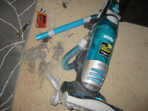 Eureka Vacuum Totally clogged hose by pet hair