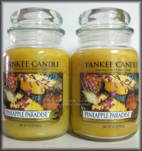 Pineapple Paradise Large Jar Candles by Yankee Candles 2012