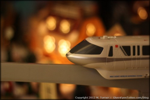 Close-up of my Monorail with the artistically blurred background. (Canon 50mm f/1.8 lens)