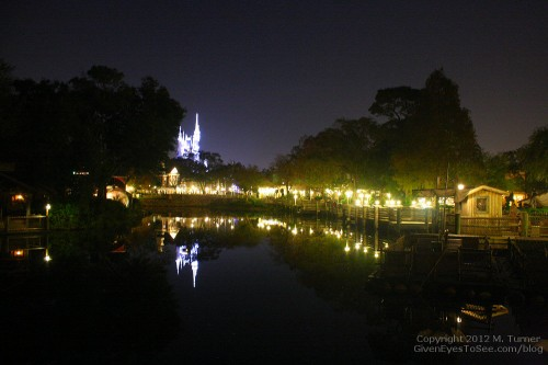 Frontierland was almost empty late into New Year's Eve 2012