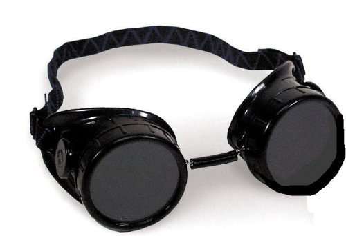 My welding goggles before I modified them