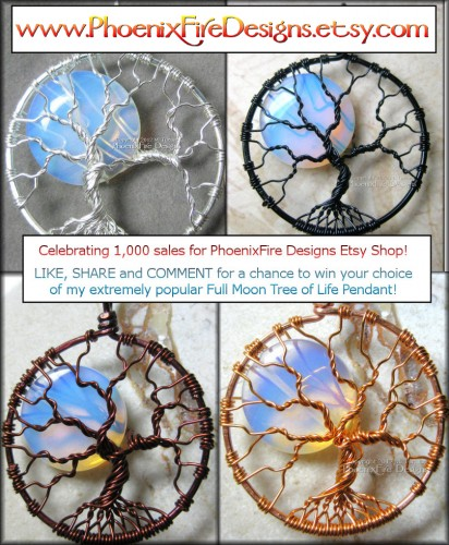 Enter to win a free opalite moonstone full moon tree of life by PhoenixFire Designs!