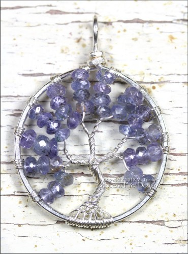 Handmade Tanzanite Tree of Life Pendant