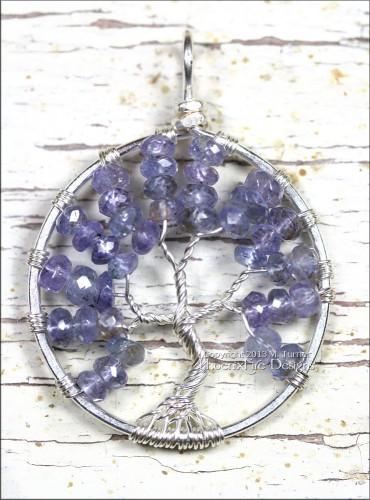 Handmade Tanzanite Tree of Life Pendant