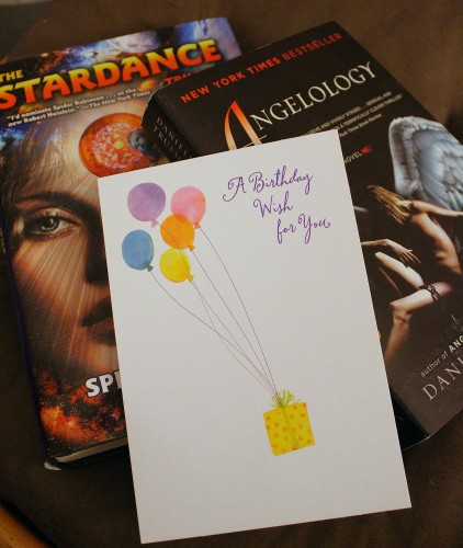 Two books and a birthday card from an anonymous well-wisher!