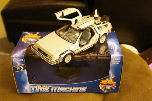 A DeLorean time machine model from Back to the Future Part II from Gary!