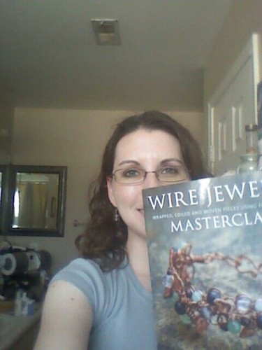 Another bad cell pic I originally posted on fb of a cool wire wrapping book from Linnéa.