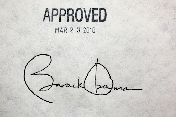 "The Affordable Care Act (known as ""ACA"" or ""Obamacare"") was signed into law by President Obama March 23, 2010."
