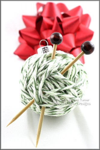 Put a little handmade whimsy in your Christmas Tree decorations with this adorable little yarn ball ornament! A perfect gift for knitters and people who crochet and a cute way to celebrate your love of handmade!