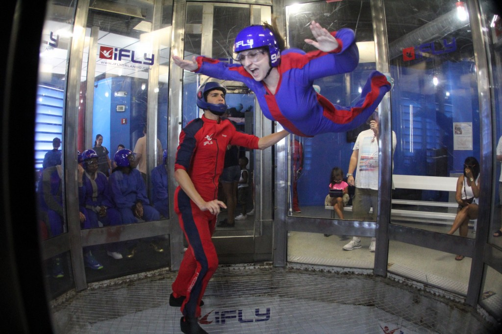 Indoor skydiving and flying at iFLY Orlando Wind Tunnel experience