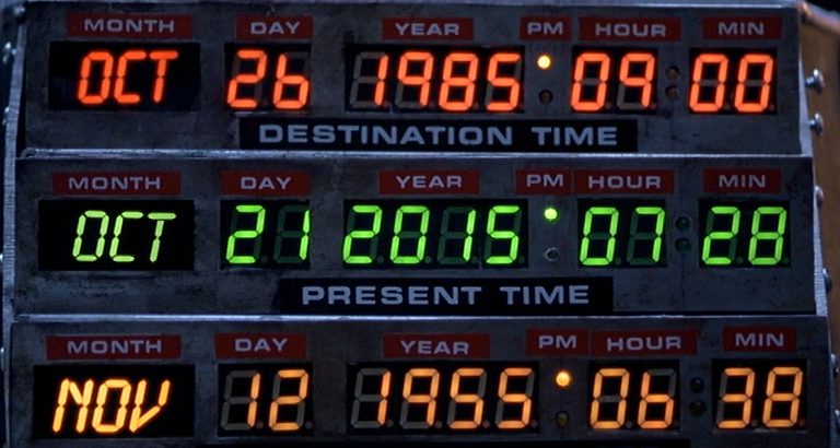 October 21, 2015 - The Future (Time Circuits from Back to the Future Part II)
