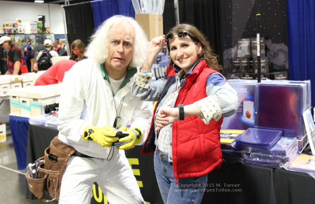 Great Scott! Doc Brown cosplayer with me as a female Marty McFly at Tampa Bay Comic Con, August 2015.