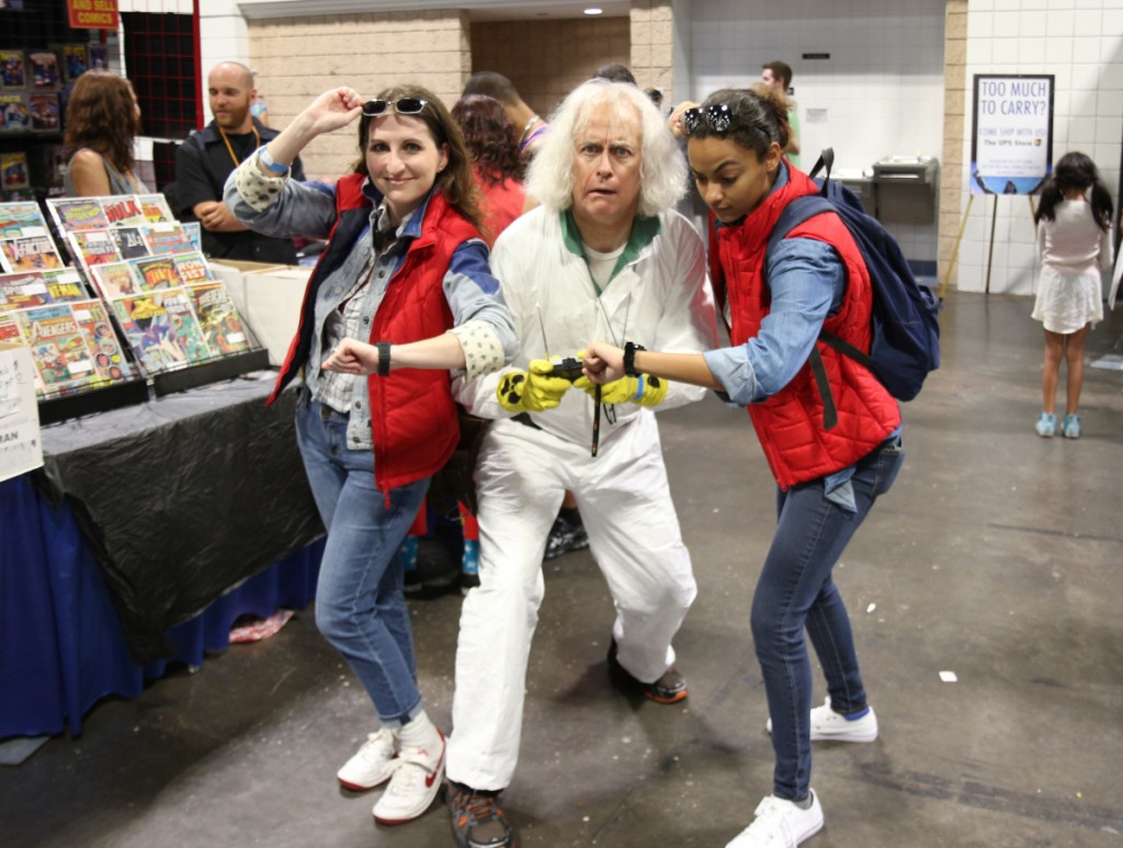 Marty McFly, Doc Brown and...Marty McFly! This is heavy. Tampa Bay Comic Con, August 2015.