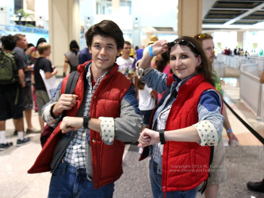 Marty McFly and...Marty McFly together at Tampa Bay Comic Con, August 1, 2015.