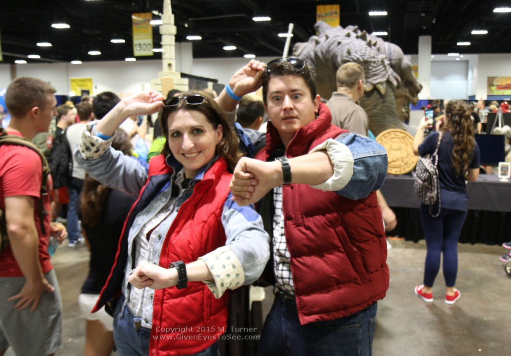 There are now two of me here and two of you here! Marty McFly x2 at Tampa Bay Comic Con, August 1, 2105