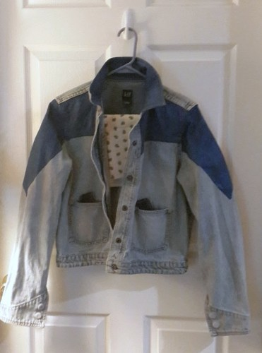 In progress women's version Marty McFly cosplay 1985 denim jacket