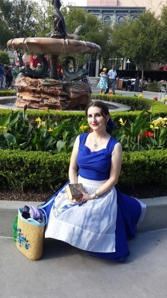 "Me in my Dapper Day Belle ""provincial town"" blue dress 1950's Disneybound at the Fall Soiree  Disney's Hollywood Studios October 3, 2015."