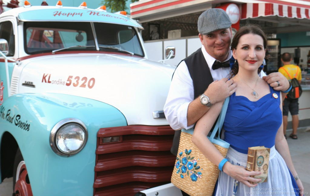 "Love and I as we closed out our first (but not last!) Dapper Day at Disney""s Hollywood Studios for the Fall Soiree October 3, 2015."