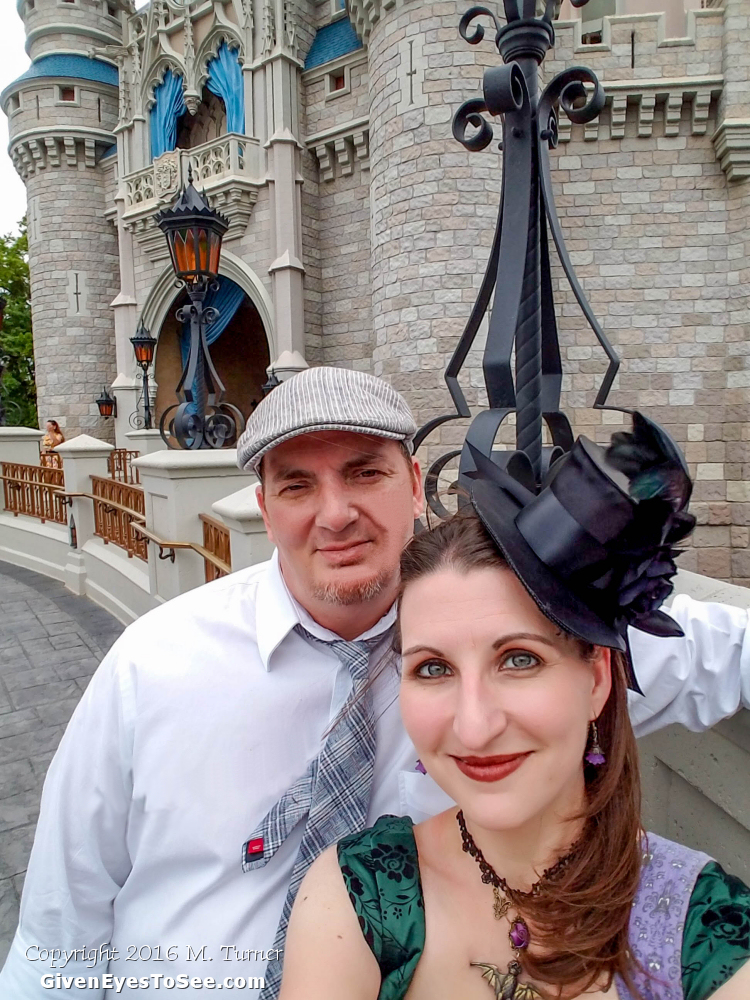 Dapper Day Spring 2016 Magic Kingdom Walt Disney World Haunted Mansion Green Dress inspired Disneybound Bat Stanchion Necklace