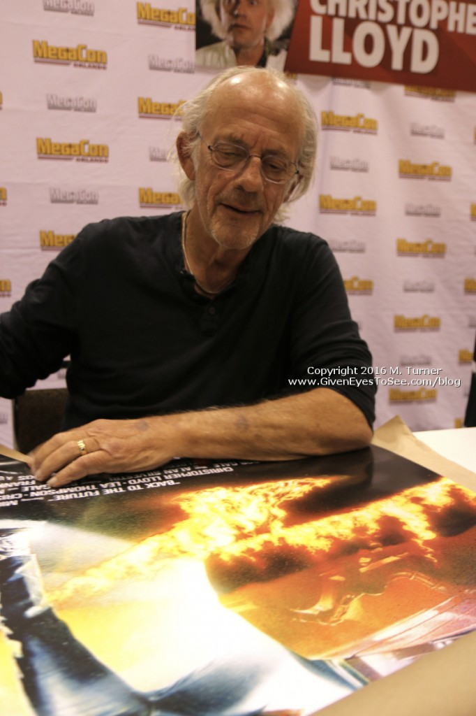 Christopher Lloyd signing my Back to the Future poster at Megacon 2016